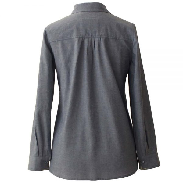Girl's long sleeve blouse blue color | Dressego Online store