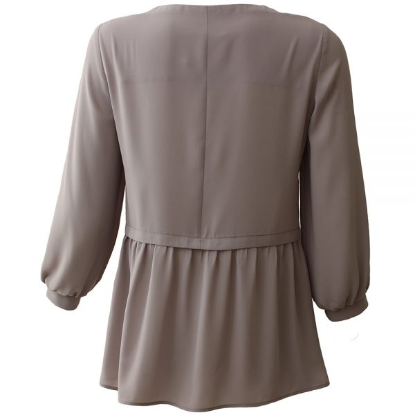 Women's and girl's Dresses silk blouse gray color - Dressego online shop