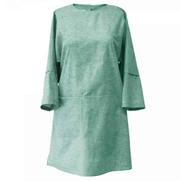 Summer women's short manteau 1100036 code - aquamarine